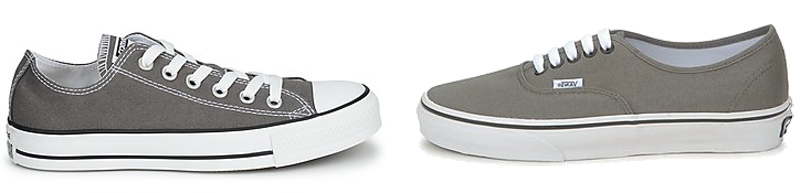 Grey Converse vs Grey Vans