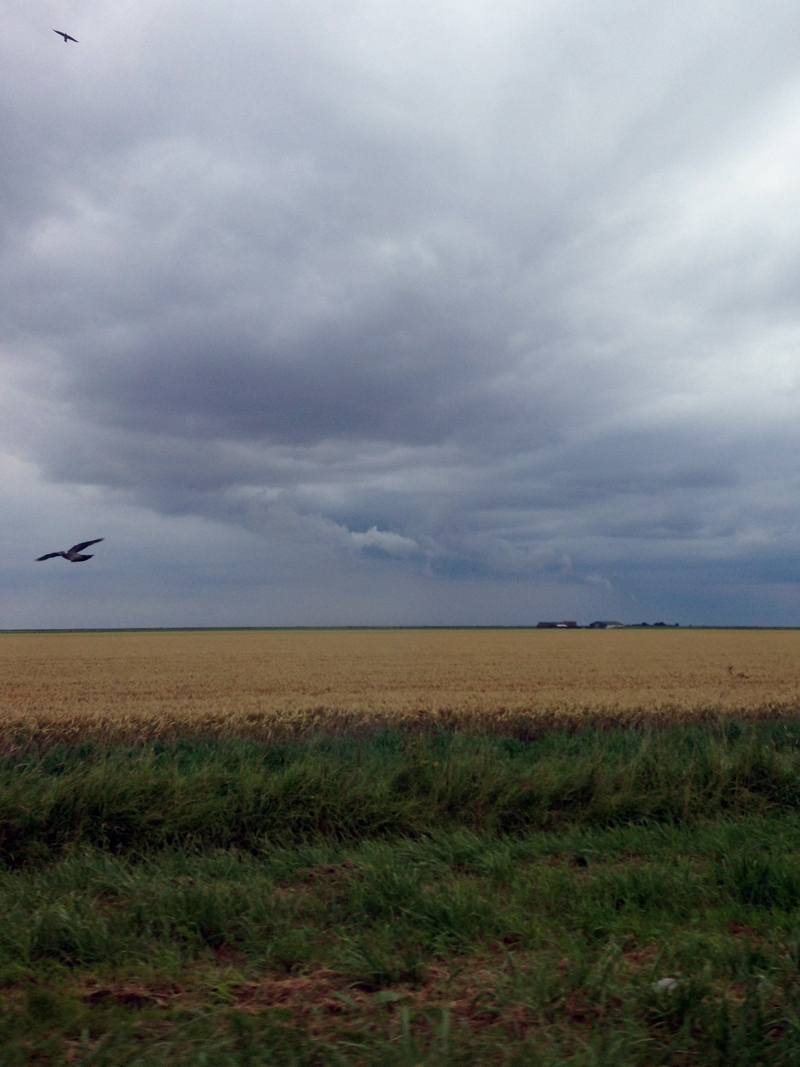 13 July - Stormy sky over Lincolnshire