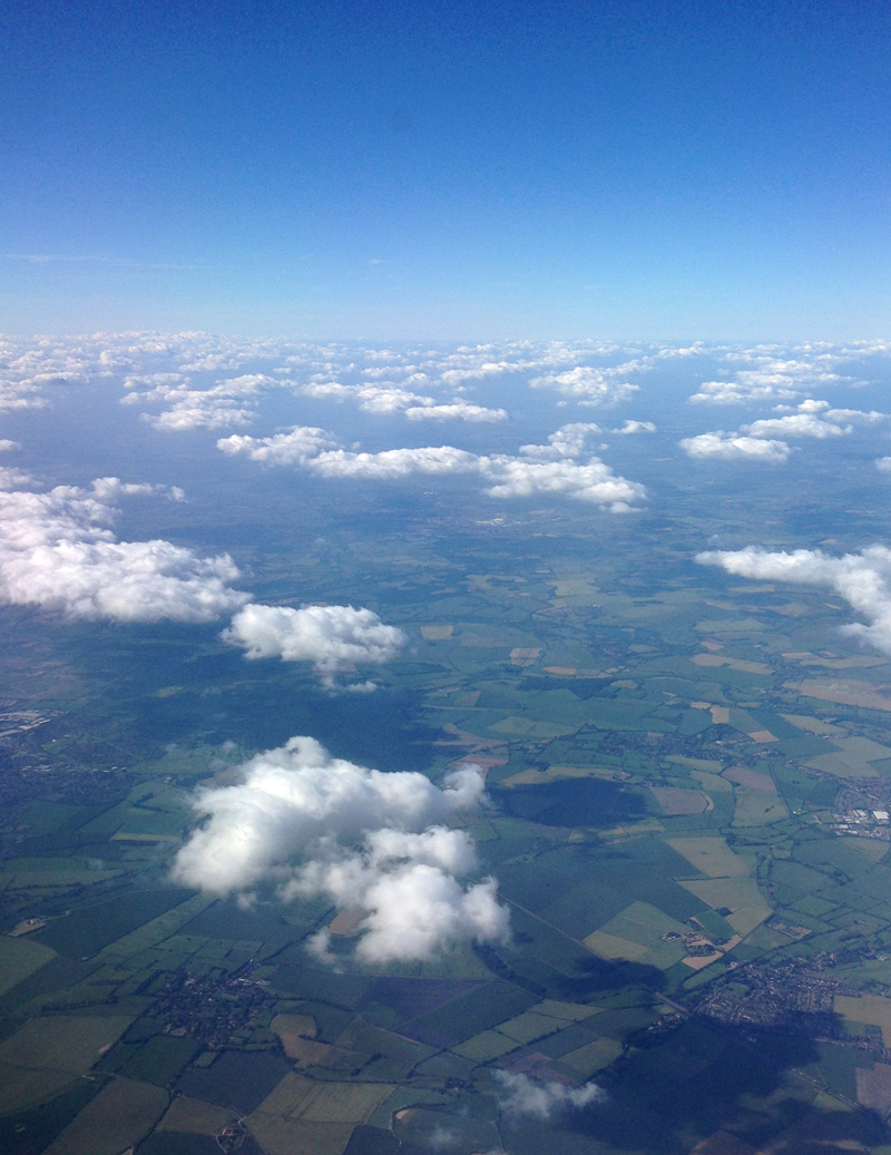 18 June - View from the plane window over the English countryside