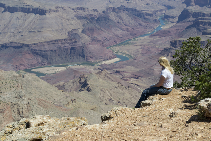 Sat overlooking the Grand Canyon