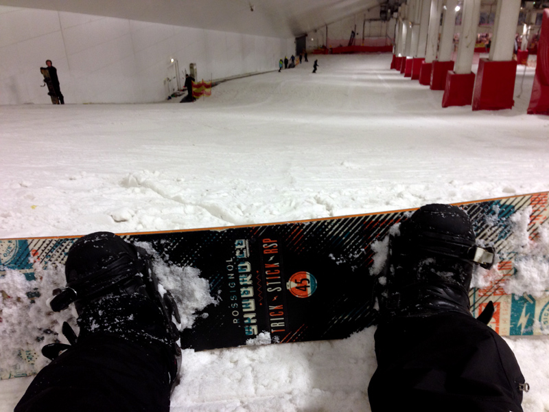 Snowboarding at Snozone
