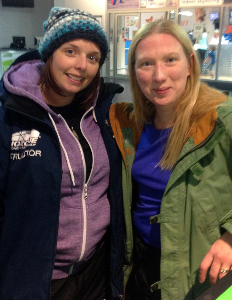 With Jo, my Snozone Snowboarding Instructor