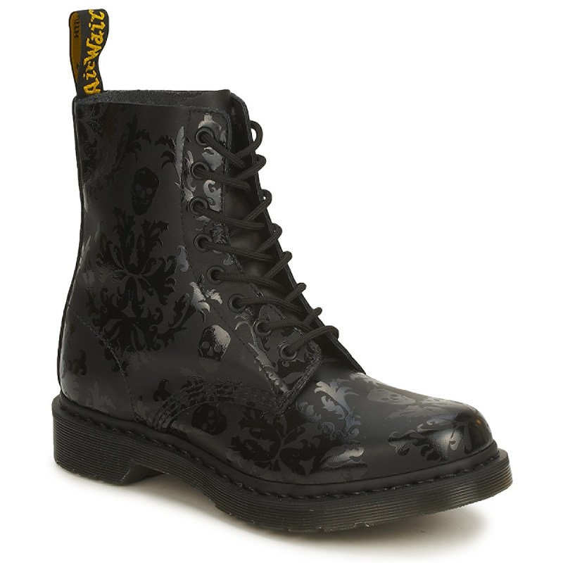 Dr Martens Cassidy with flowery skulls