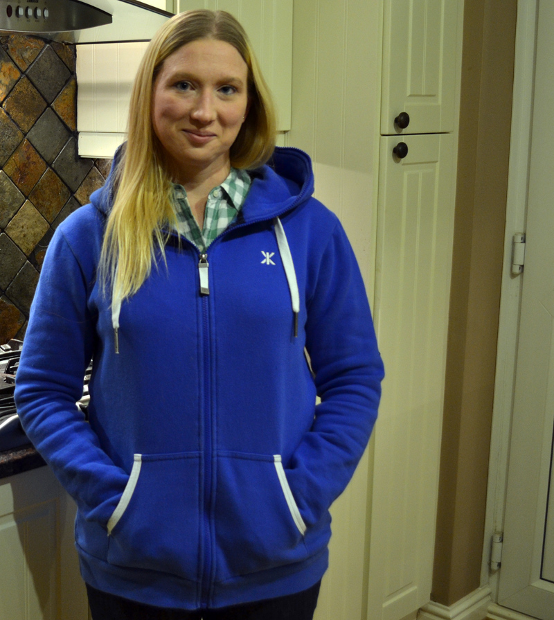 In my Everyday Zip Hoodie from OnePiece