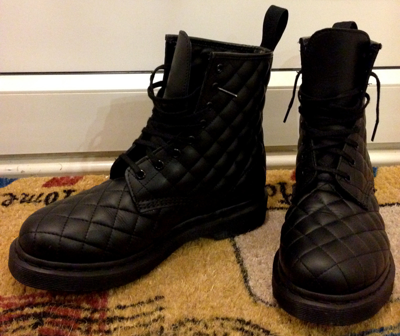 Core Coralie Quilted Dr Martens Boots