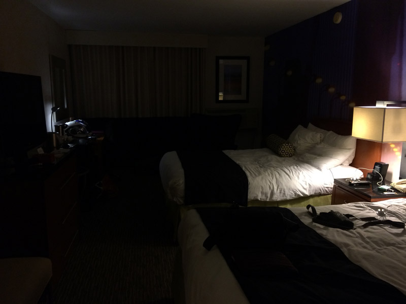 All the light you get in an American hotel room.