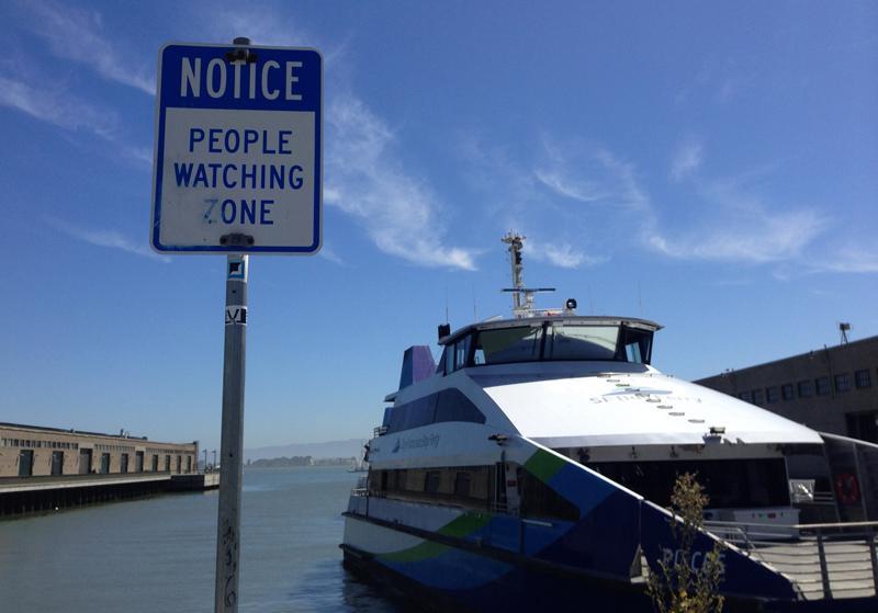 """People Watching Zone"" - genuine notice in San Francisco"