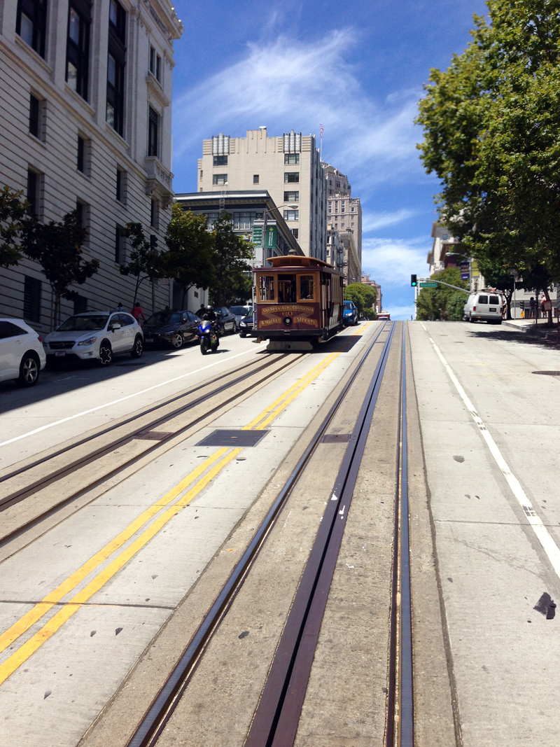 Cable Car and Bike in San Francisco