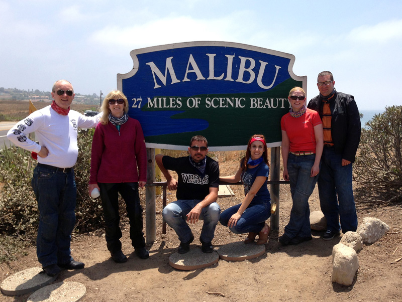 The group for the second week at Malibu