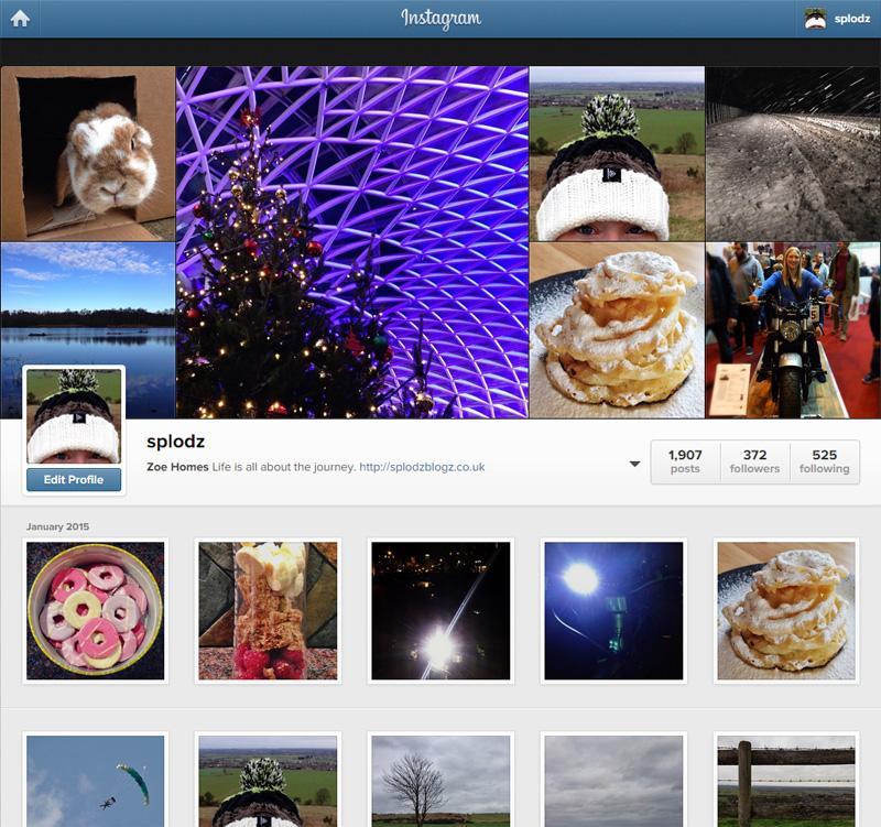 My Instagram Profile - Splodz