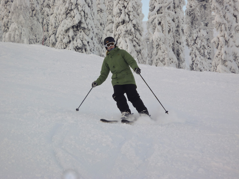 Skiing in Ruka, Finland
