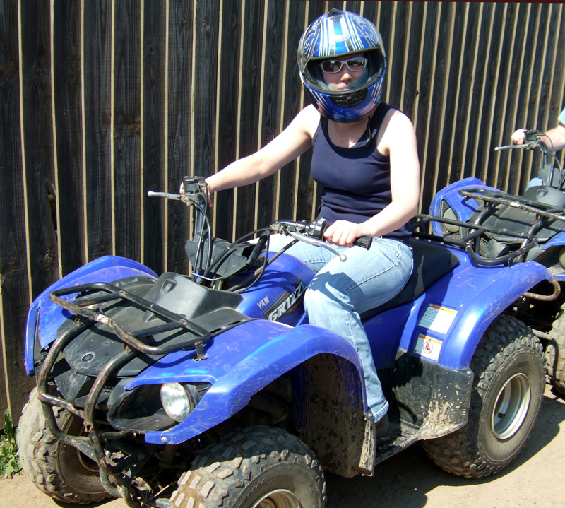 Quad Bike Safari at Center Parcs Elveden Forest May 2010