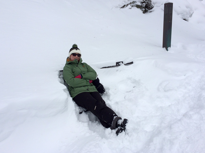 Winter Hike in Obergurgl - Taking a Break on a Bench