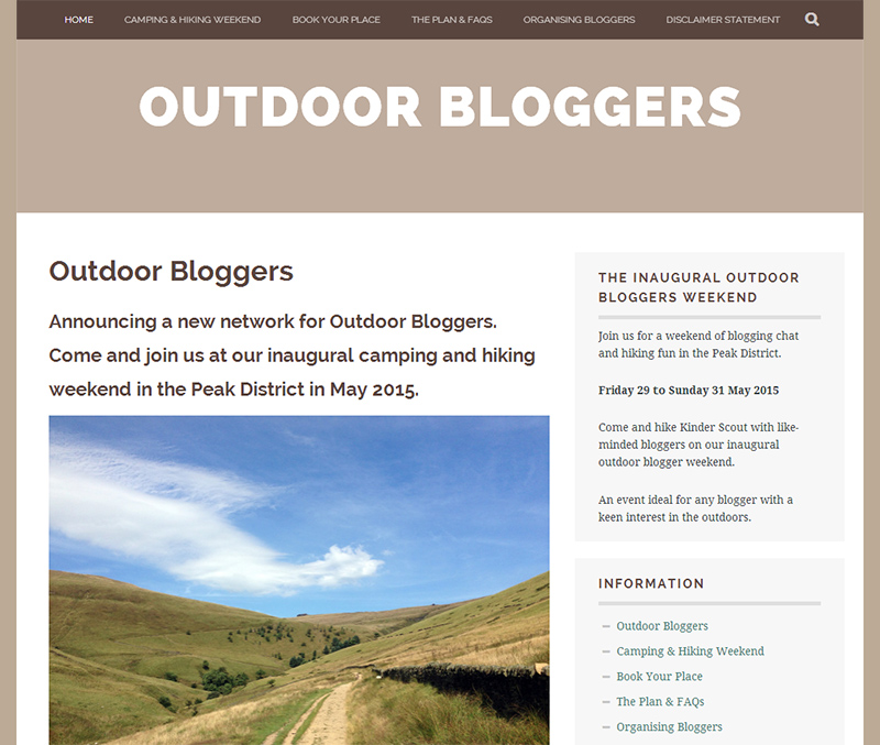 Outdoor Bloggers Screenshot