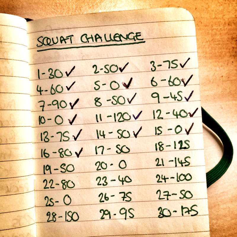 30 Day Squat Challenge Tick