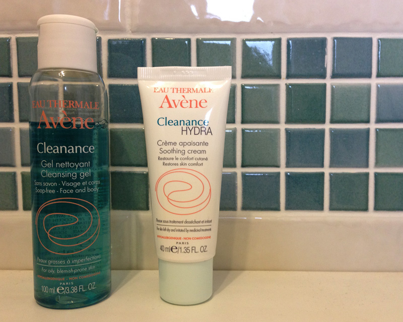 Avene Cleanance Cleansing Gel and Hydra Moisturiser