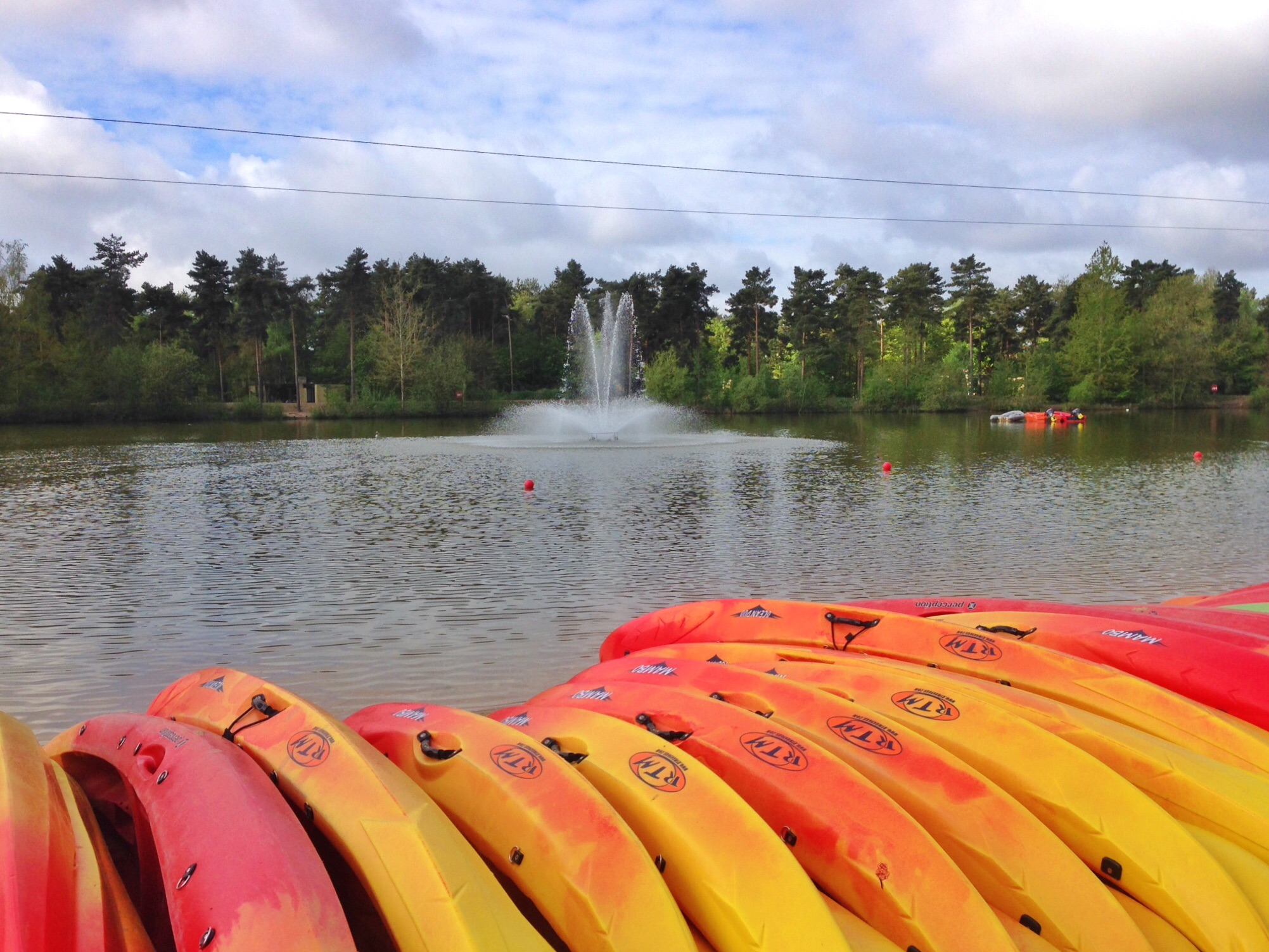 At Center Parcs - The Lake and Fountain