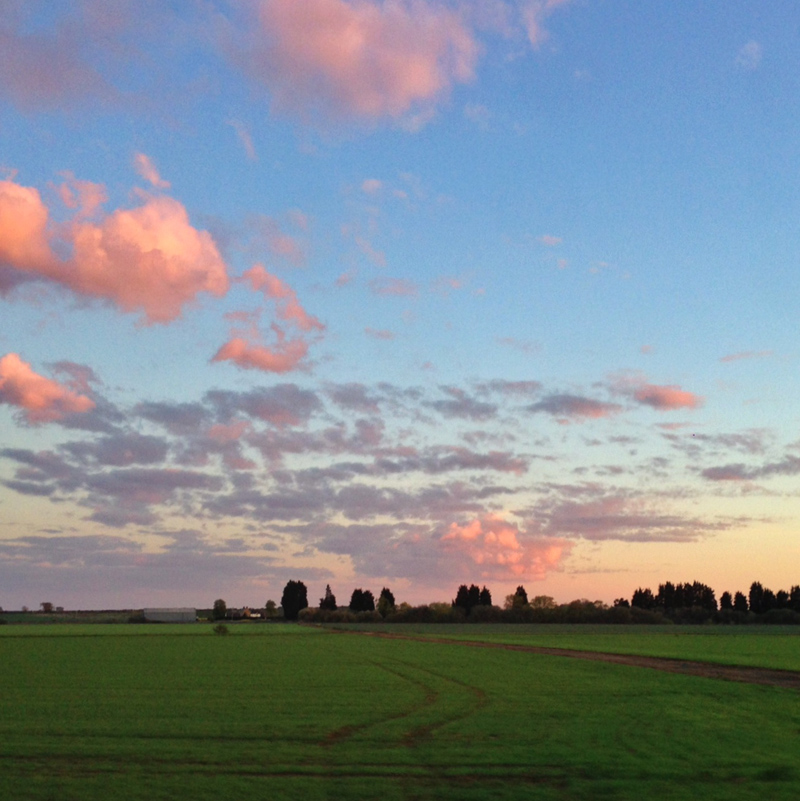 Lincolnshire - Sunset from the A15 at Digby
