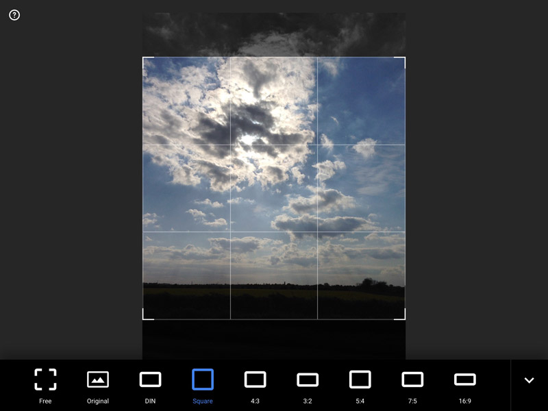 Snapseed Guide - Cropping