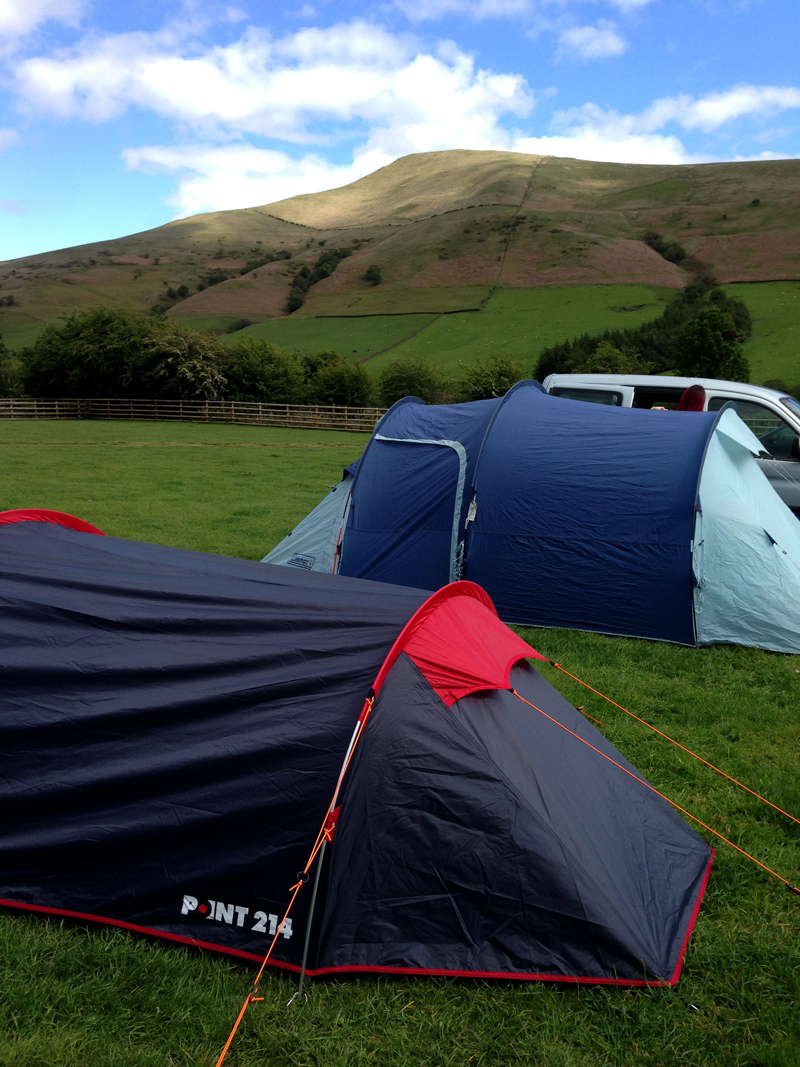 Outdoor Bloggers Weekend, Edale - View from Greenacres Campsite, Nether Booth