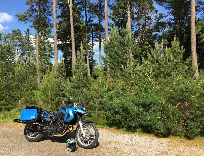 Flight001 Spacepak Compression Unit from Bear & Bear and my Motorbike