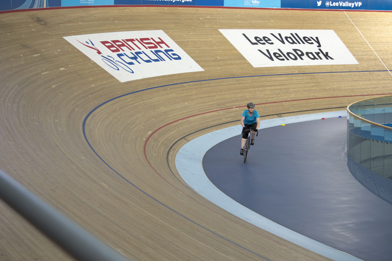 Cycling at the Olympic Velodrome (Lee Valley VeloPark)
