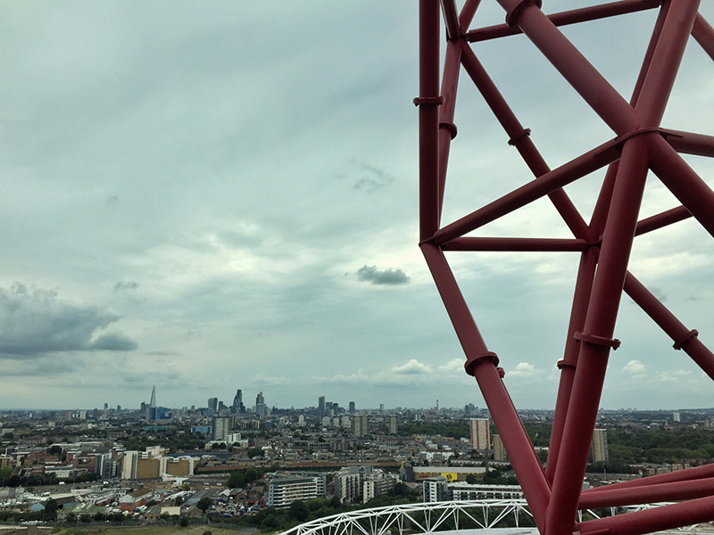 The view from ArcelorMittal Orbit, Olympic Park