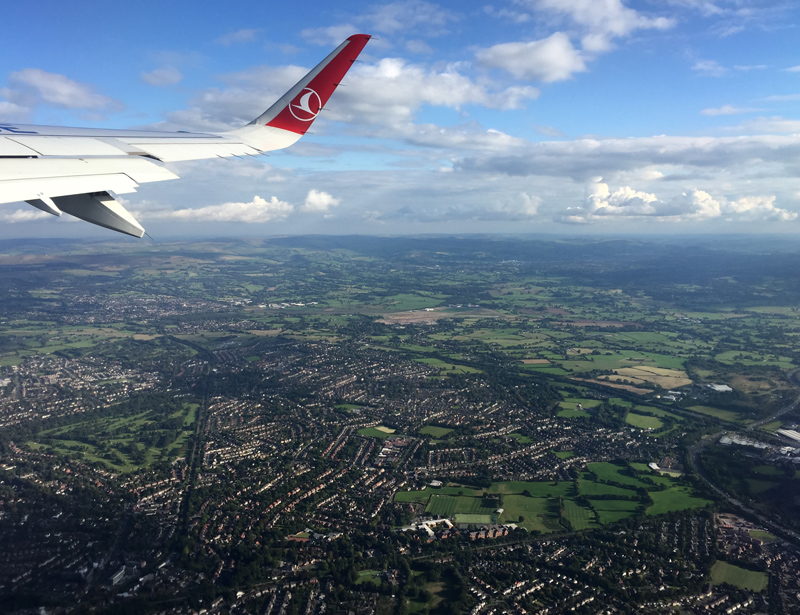 TopDeck Turkey Diary - View from the Plane