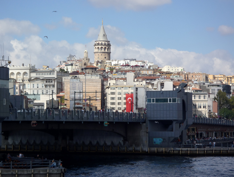 TopDeck Turkey Diary - Galata Tower from the Boat