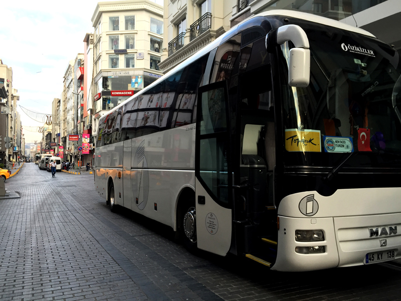 TopDeck Turkey Diary - Our Bus