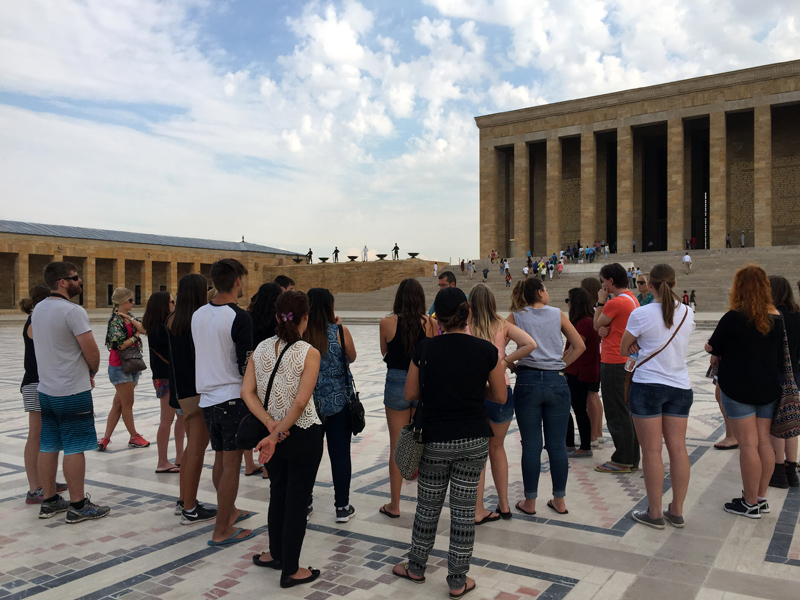 TopDeck Turkey Diary - Tour Group at Ataturk Mausoleum