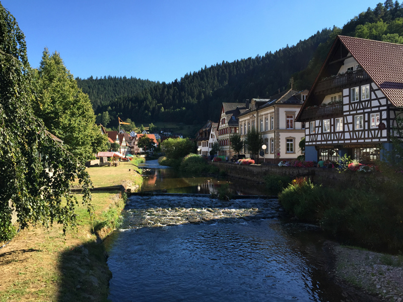 Motorbike Tour of Europe - Schiltach in the Black Forest