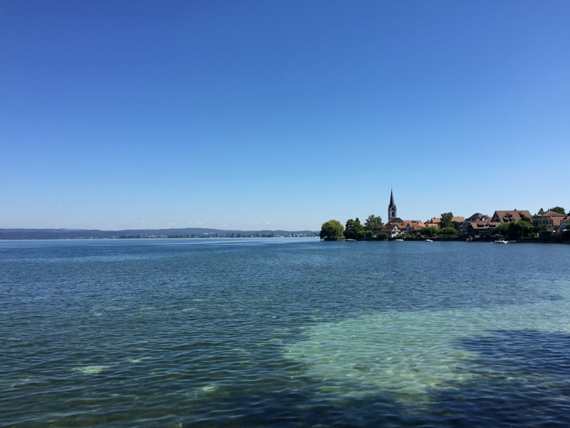 Motorbike Tour of Europe - Lake Constance at Berlingen