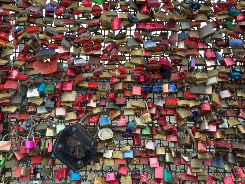 Motorbike Tour of Europe - Love Locks in Cologne