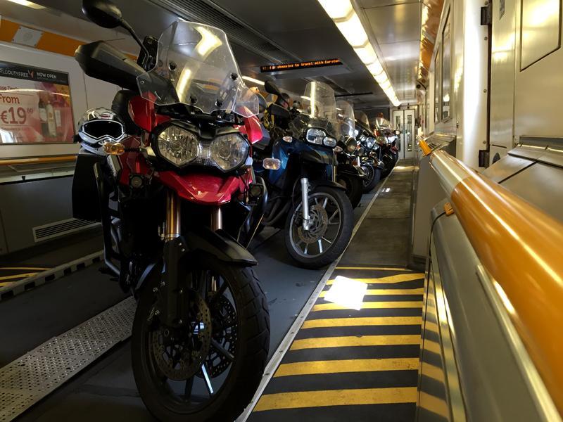 Motorbike Tour of Europe - On the Train