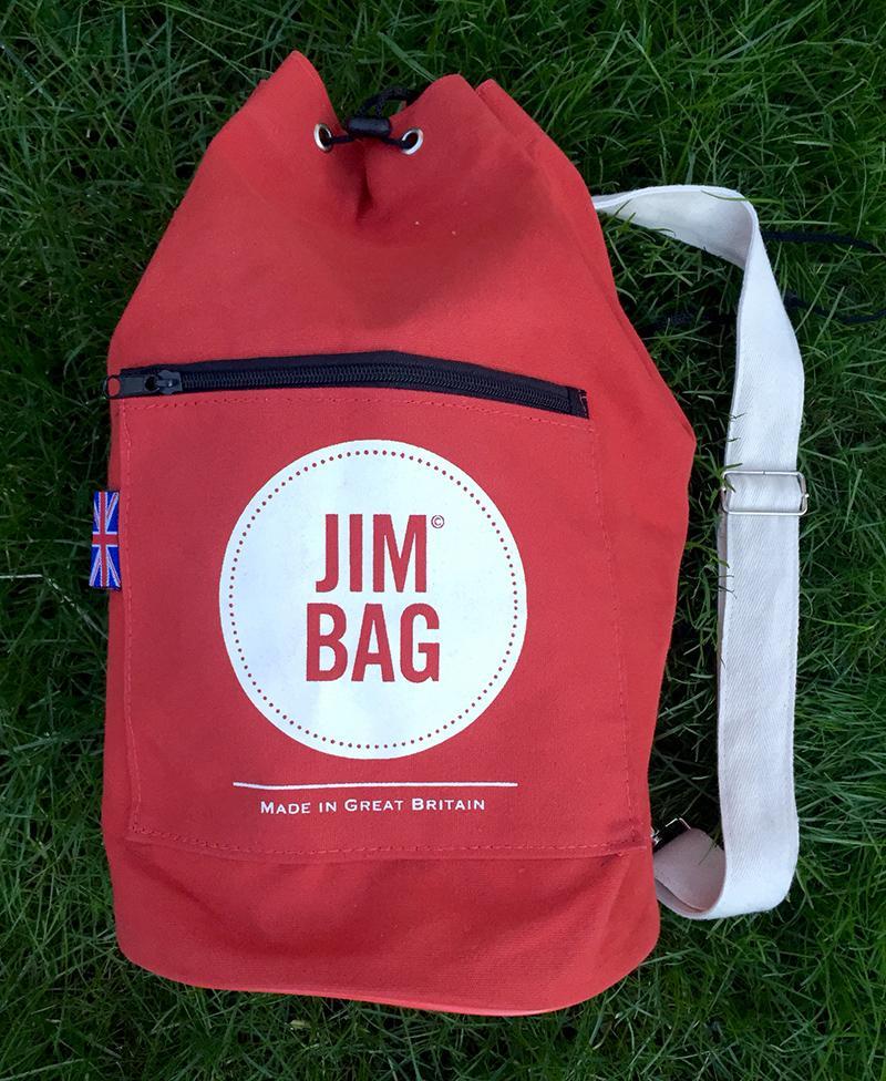 Jim Bag Red Canvas Duffel