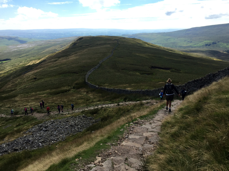 Walking down Whernside