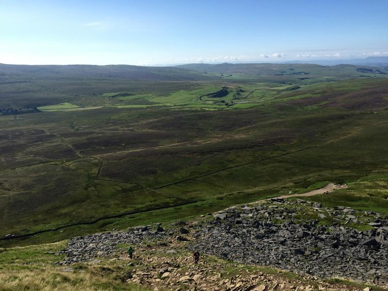 Yorkshire 3 Peaks - Looking down from Pen y Ghent