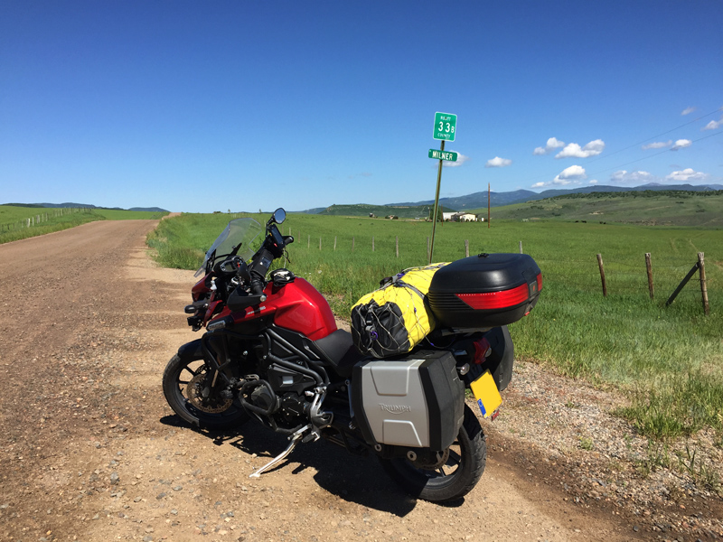 Riding in Wyoming