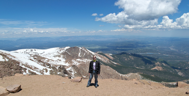 Standing at the Summit of Pike's Peak
