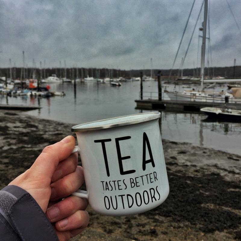 Drinking tea at Buckler's Hard, Splodz Blogz