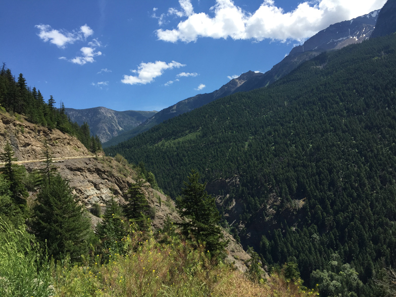Zartusacan Mountain View in British Columbia Highway 99