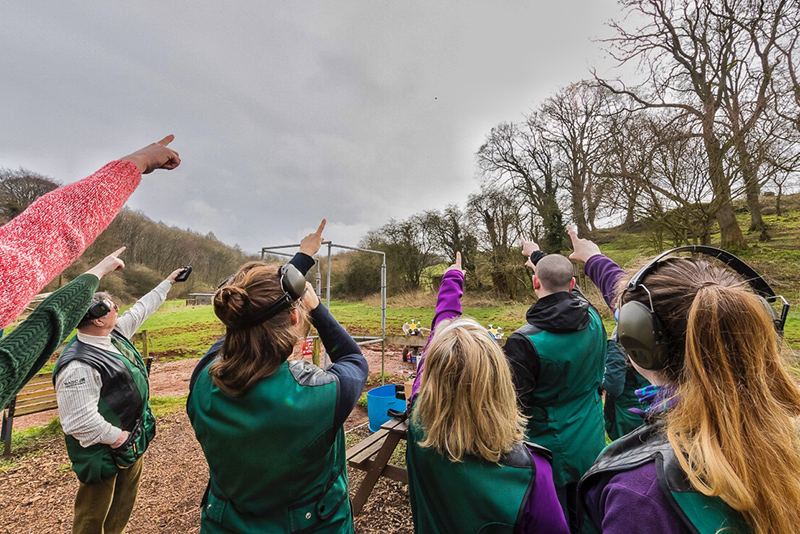 Clay Pigeon Shotting with DCB Leisure. Photo David Broadbent.