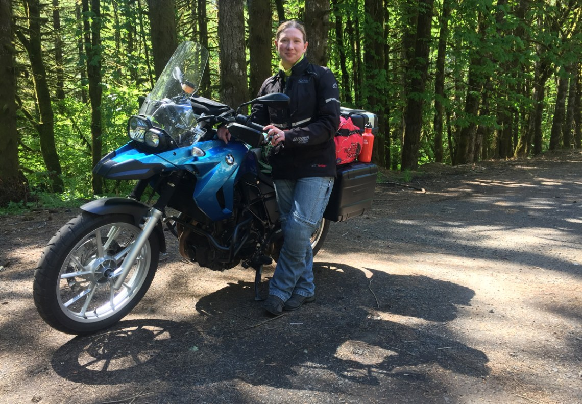 Splodz Blogz | Zartusacan - Zoe with F650GS at Timber, Oregon