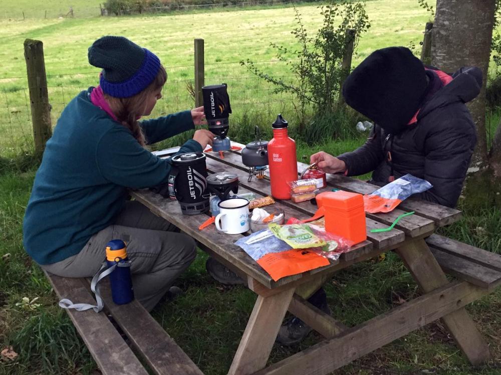 Splodz Blogz | Cooking Dinner on the West Highland Way