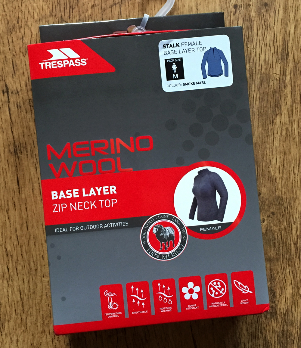 Splodz Blogz | Trespass Stalk Merino Base Layer