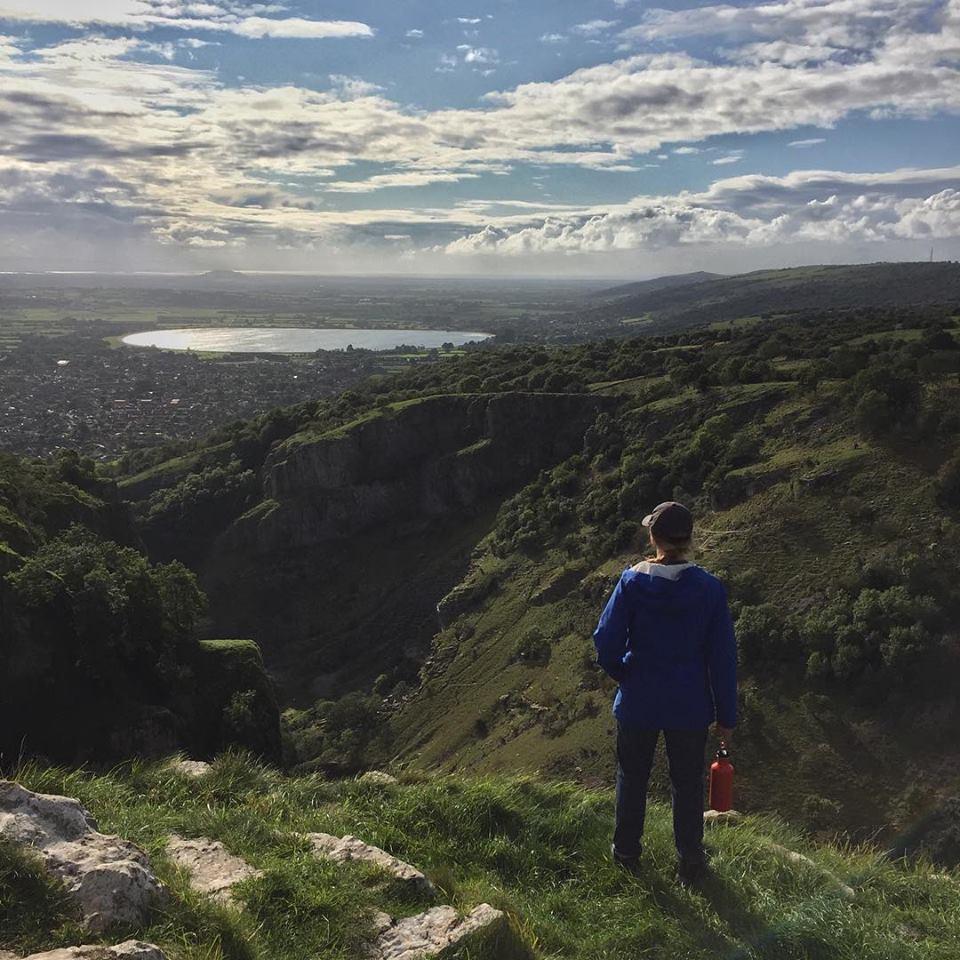 Splodz Blogz | Standing at Cheddar Gorge