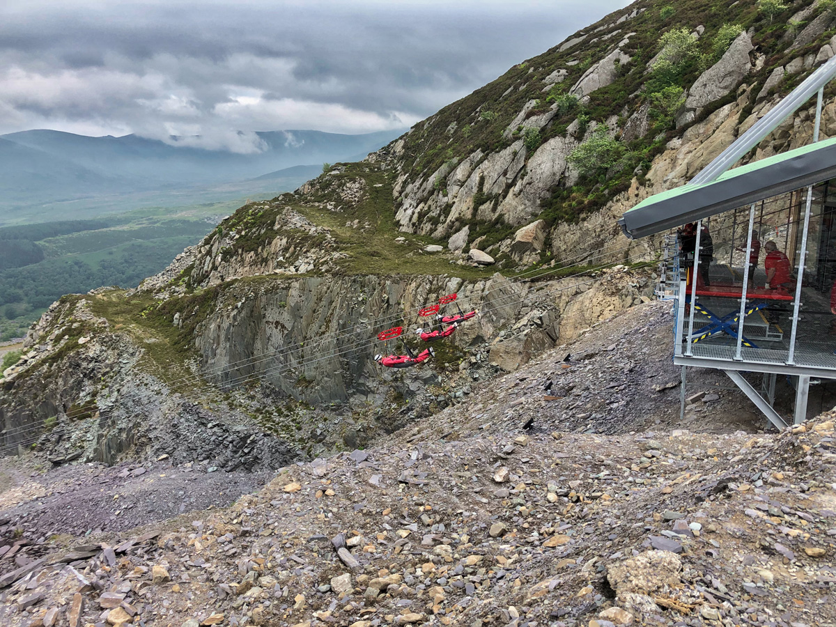HEAD FIRST IN WALES WITH ZIP WORLD VELOCITY 2