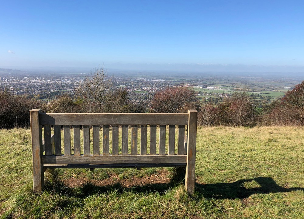 Splodz Blogz | View of Cheltenham from Cleeve Hill