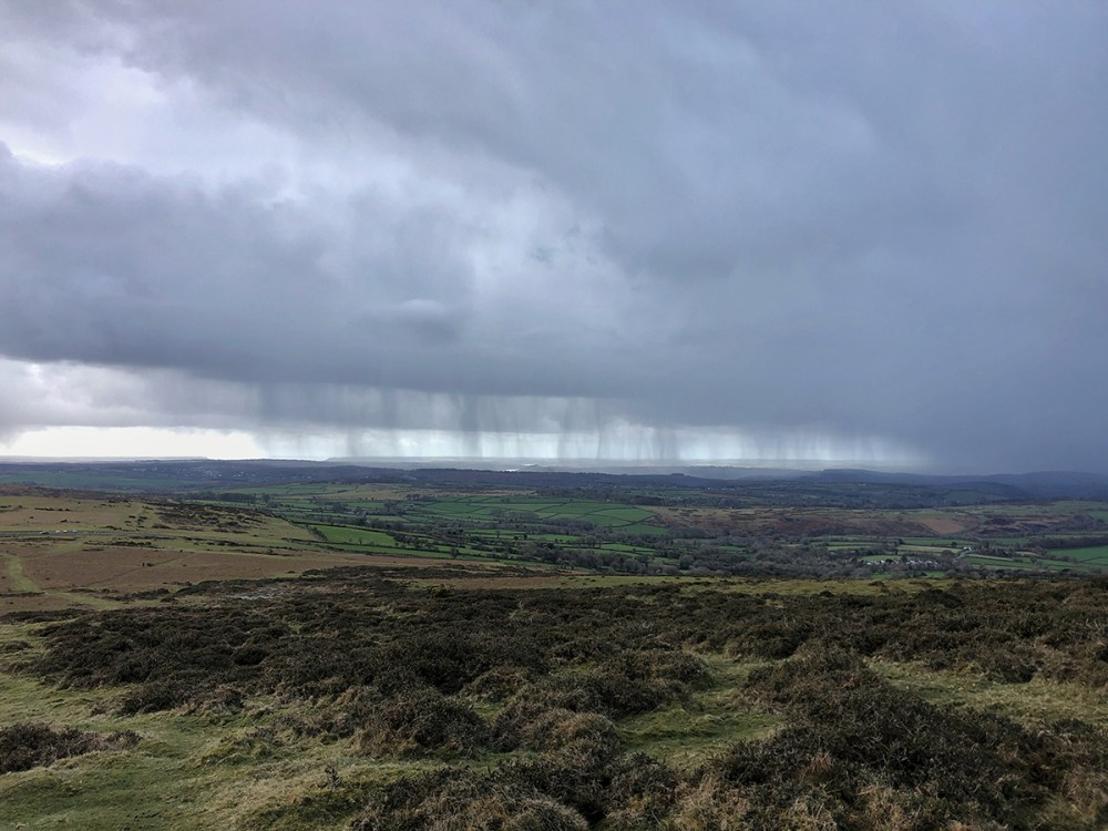 Splodz Blogz | View of the storm from Cox Tor, Dartmoor National Park